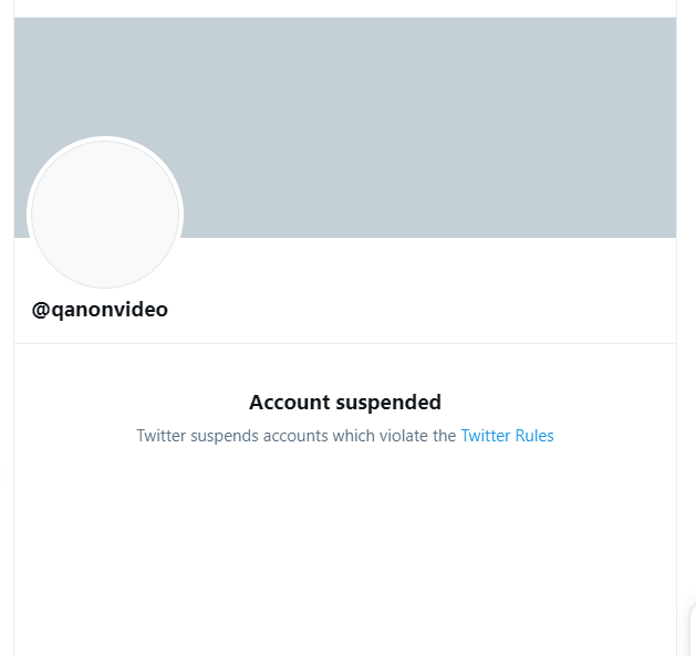 QanonVideo Suspended from Twitter