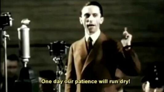 Joseph Goebbels, Nazi propaganda minister, whom Biden plagiarized from